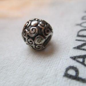 Pandora Silver Swirl Dot Bead - Retired